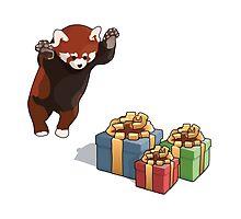 Red Panda Gets Presents by Nathanael Mortensen