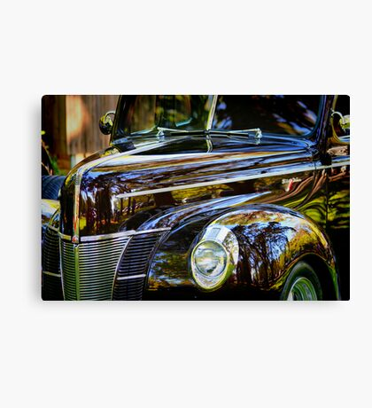 Reflections on Black Canvas Print