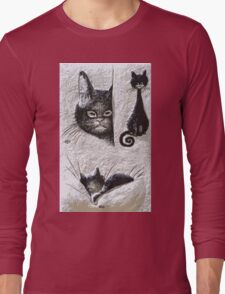 Exclusive: CATS  LOVE / My Creations Artistic Sculpture Relief fact Main 20  (c)(h) by Olao-Olavia / Okaio Créations Long Sleeve T-Shirt
