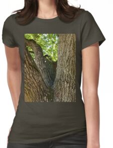 The mighty and powerful oak branches Womens Fitted T-Shirt