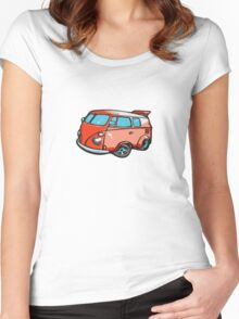 Red Kombi Women's Fitted Scoop T-Shirt