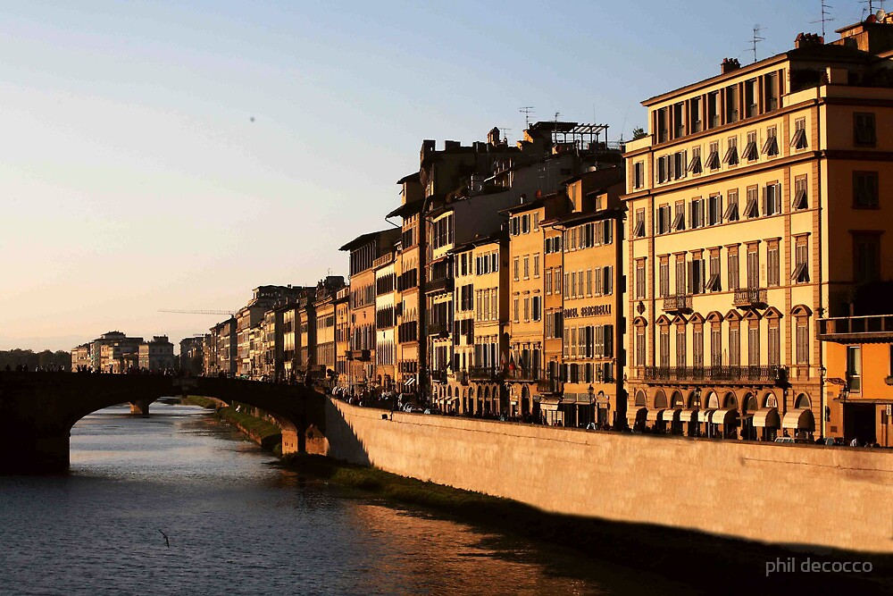 Sunset On the Arno by phil decocco