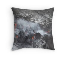 Volcano Helicopter tour in Hilo, Hawaii Throw Pillow