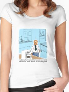 Just a Gopher - climb the corporate ladder? Women's Fitted Scoop T-Shirt