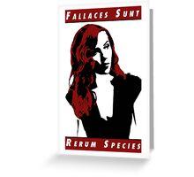 Fallaces Sunt Rerum Species Greeting Card