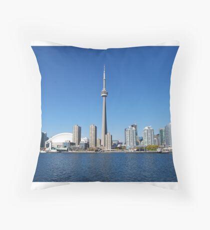 Toronto Skyline - View from Lake Throw Pillow