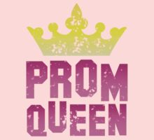 PROM queen with crown distressed version Kids Clothes