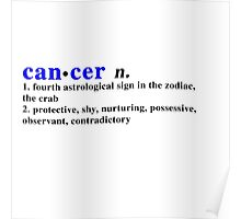 Zodiac Definitions: Cancer Poster