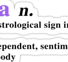 Zodiac Definitions: Libra Sticker