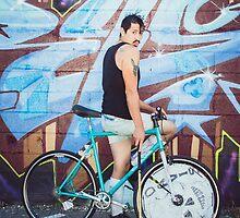 Pinup Bike Polo Cutie #5 by Jennifer Kutzleb