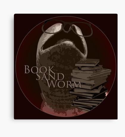 Book Sand Worm Canvas Print