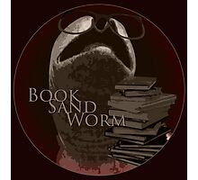 Book Sand Worm Photographic Print