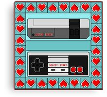 Video Game Lover : NES Canvas Print