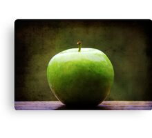 The apple sat for awhile contemplating what might have been.... Canvas Print