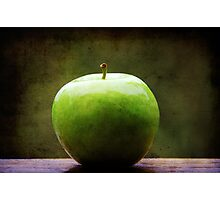 The apple sat for awhile contemplating what might have been.... Photographic Print