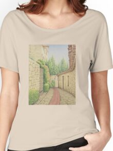 Ruelle, Path in Eze, France Women's Relaxed Fit T-Shirt