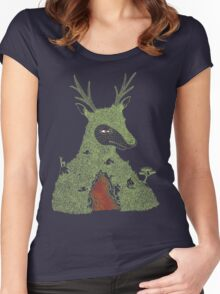 Stag at the Heart of the Mountain Women's Fitted Scoop T-Shirt