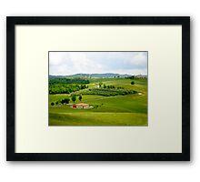 Roadways of Tuscany, Italy Framed Print