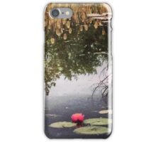 Reflections with a Lilypad  iPhone Case/Skin