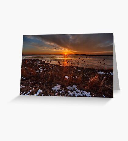 Sun sets on Plum Island Greeting Card