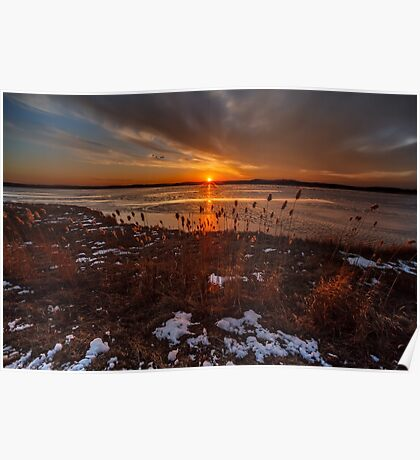 Sun sets on Plum Island Poster