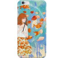 Fish in the rain 魚と雨 iPhone Case/Skin