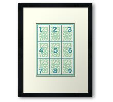 Learning To Count Framed Print
