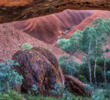 Looking Out from a Cave on Uluru Sticker