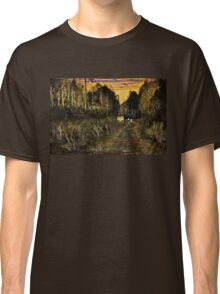 A Walk Along the River at Sunset Classic T-Shirt