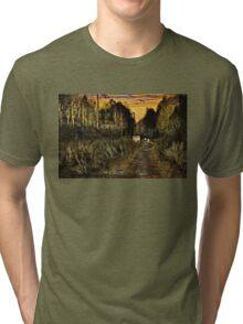 A Walk Along the River at Sunset Tri-blend T-Shirt