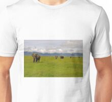 Ngrongoro Elephants-Signed Unisex T-Shirt