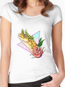 Magical Leopard Gecko Women's Fitted Scoop T-Shirt