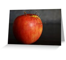 Dressed Fruit:  Apple and pins Greeting Card