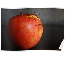 Dressed Fruit:  Apple and pins Poster