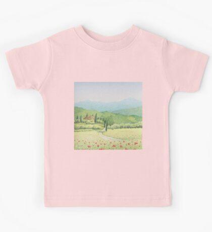 Tuscan Vineyard, Tuscany, Italy Kids Tee