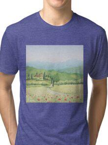Tuscan Vineyard, Tuscany, Italy Tri-blend T-Shirt