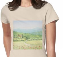Tuscan Vineyard, Tuscany, Italy Womens Fitted T-Shirt