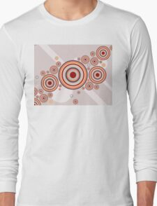 Rings of Color Abstract Graphic Long Sleeve T-Shirt