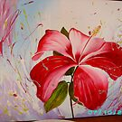 Hibiscus fantasy background by dinky