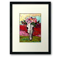 Bohemian Desert Cow Skull Framed Print