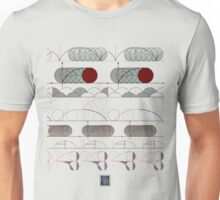 """""""Cycloid Curves - RED""""© Unisex T-Shirt"""