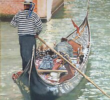 How does the Gondolier get to work? by David McEwen