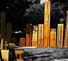 Gheluvelt Park war memorial by Lissywitch