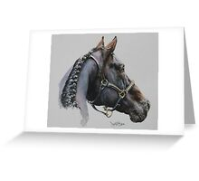 Horse of a different colour. Greeting Card