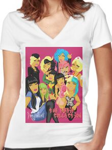 Barbie Collection Women's Fitted V-Neck T-Shirt