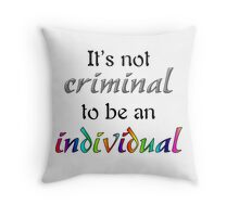It's Not Criminal - Star Vs Quote Throw Pillow