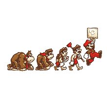 Donkey Kong To Mario Evolution by Oscar30694
