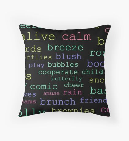Witty with Words Throw Pillow