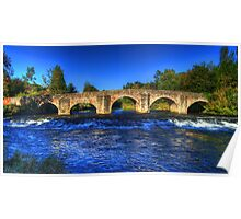 River Exe at Bickleigh Bridge Poster