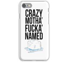 Ice Cube Black iPhone Case/Skin